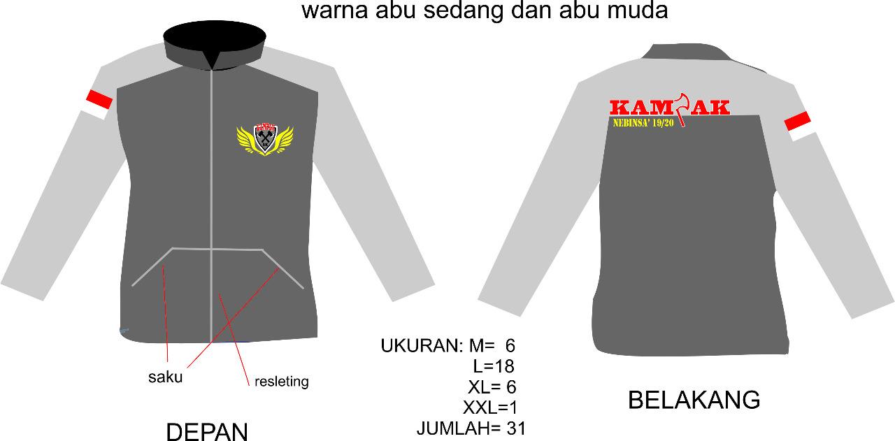 Contoh desain dari Customer konveksi sweater murah bandung