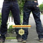 Konveksi celana jeans standar warna biru dongker