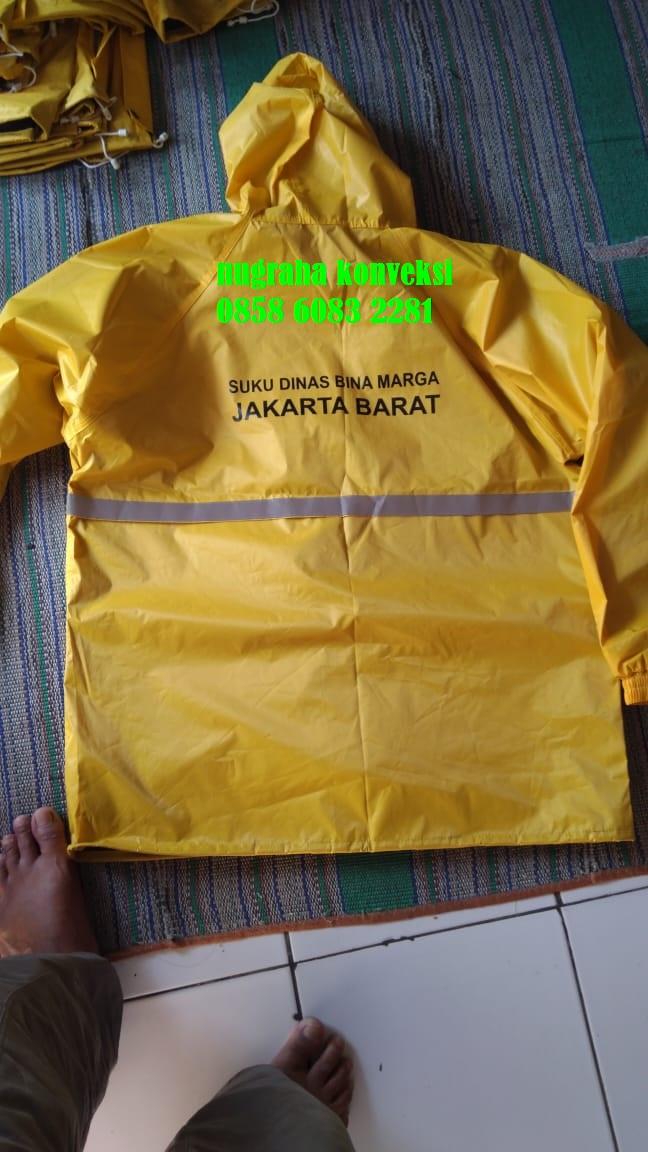 gambar jas hujan dinas bina marga jakarta tahun 2019