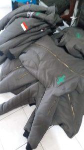 produksi jaket bomber NU bahan taslan