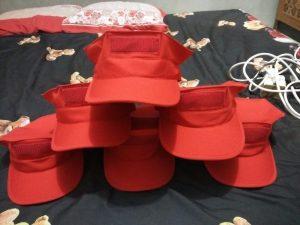 Konveksi topi murah bandung warna merah