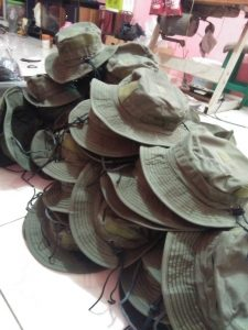 Konveksi topi rimba warna hijau army