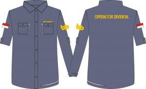 desaign seragam kemeja kantor bip group jakarta bahan ripstop